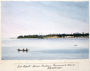 Edward Gennys Fanshawe, Fort Rupert, Beaver Harbour, Vancouver's Island, July 23rd 1851 (Canada).jpg