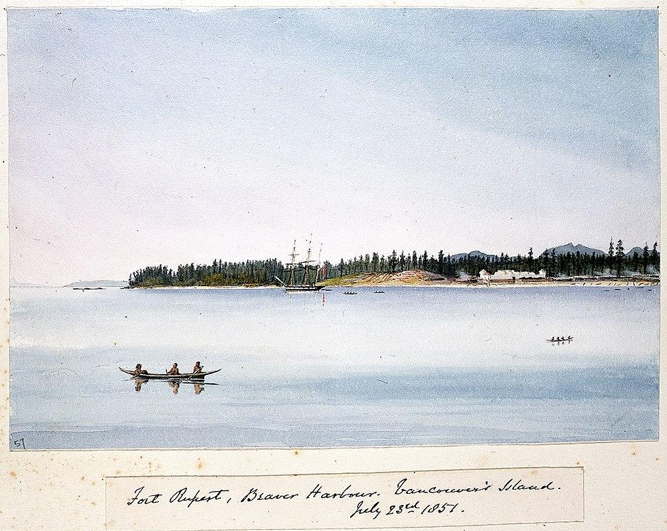Edward Gennys Fanshawe, Fort Rupert, Beaver Harbour, Vancouver's Island, July 23rd 1851 (Canada)