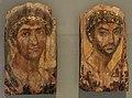 Egitto romano, due ritratti funerari di uomini, II secolo.jpg
