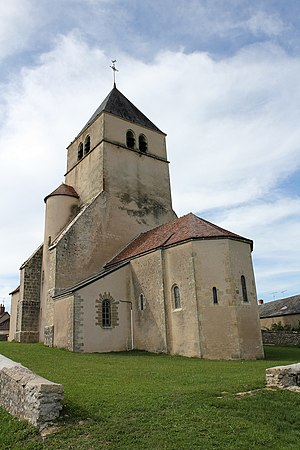 Bazolles - The church of Saint-Symphorien, in Bazolles