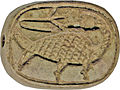 Egyptian - Plaque with Sphinx and Duck - Walters 42982 - Reverse (2).jpg