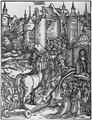 Einzug des trojanischen Pferdes, Holzschnitt aus Vergilii Opera, Strassburg, Grüninger 1502 fol. CLXIIII v.png