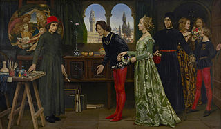 Botticelli's studio: The first visit of Simonetta presented by Giulio and Lorenzo de Medici