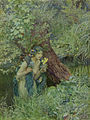 Eleanor Fortescue-Brickdale - With goodly greenish locks, all loose 'untied'.jpg