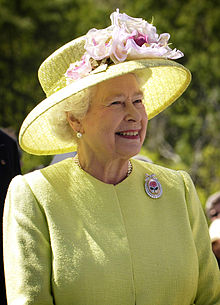 Elderly queen with a smile