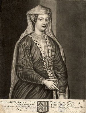 De Clare - Elizabeth de Clare, 11th Lady of Clare, founder of Clare College, Cambridge