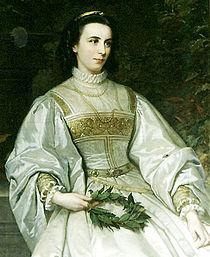 Ellen Franz, spätere Helene Freifrau von Heldburg, Gemälde von Oskar Begas um 1870.jpg