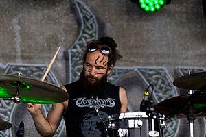 Elvenking (band) - The drummer Symohn