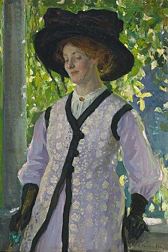 Edith Susan Gerard Anderson - Image: Emanuel Phillips Fox On the Balcony, 1912