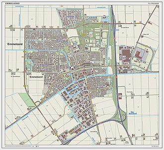 Emmeloord - Topographic map of Emmeloord, March 2014