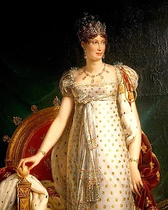 Marie Louise, Duchess of Parma - Empress Marie Louise of the French in States Robes, by François Gérard, c.1812