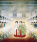 Empress at a Silk Factory by Arai Kampo (Meiji Memorial Picture Gallery).jpg