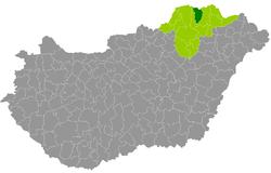 encs térkép Encs District   Wikipedia encs térkép