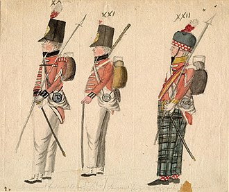 Walcheren Campaign - Infanterie of 50th and 91th Regiment.