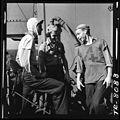 Enlisted personnel aboard USS Lexington (CV-16) in the Pacific. Swapping wise cracks during quiet moment aboard ship. - NARA - 520902.jpg