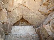 Système de couverture, entrée de la pyramide de Khéops