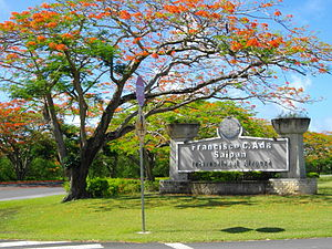 Entrance to Saipan International Airport