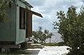 Entrance to sleeping hut. Inagua camp. (24999037228).jpg