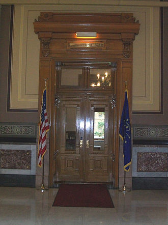 Governor of Indiana - The entrance to the governor's office