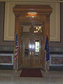 Entrance to the office of the Governor of Indiana, Indiana Statehouse, Indianapolis, Indiana.jpg