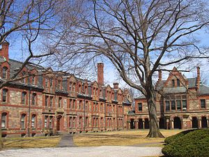 Episcopal Divinity School - Lawrence and Reed Halls on EDS's Flemish style quadrangle