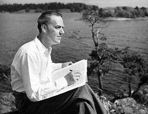 Erland von Koch - Erland von Koch at his summer residence in Ornö, Sweden, in 1952.