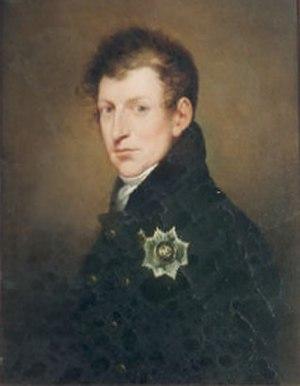 Diana Rabe von Pappenheim - Diana's second husband Ernst Christian August von Gersdorff in 1829