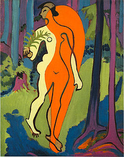 KIRCHNER Ernst Ludwig Nude in Orange and Yellow 1929-30