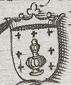 Escudo da Galiza na Hispaniae Descriptio de Domenico Zenoi (1560).jpg