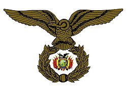 Escudo de Armas de la Fuerza Aérea Boliviana.