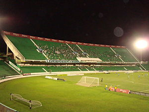 Guarani FC - Brinco de Ouro stadium, during a night game.
