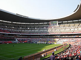 An internal view of the stadium.