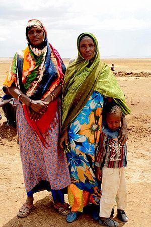 English: Halima Nur and her friend Hawa, victi...