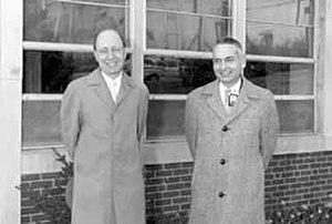 Alvin M. Weinberg - Eugene Wigner (left) with Weinberg (right) at the Oak Ridge National Laboratory