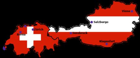 Peta Tempat Penyelengaraan Kejuaraan Sepak Bola Eropa 2008