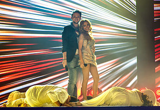 Ell & Nikki - Image: Eurovision Song Contest 2012, semi final allocation draw (6)