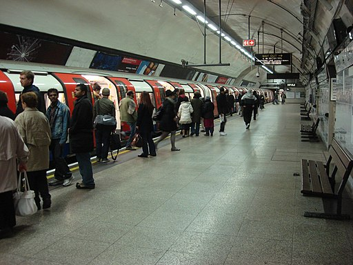 Euston tube Northern Line City branch southbound