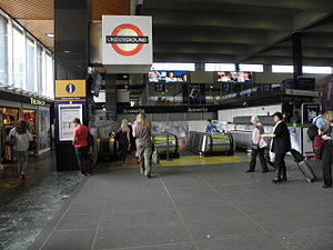 Euston tube station - Entrance to the Underground station within main line station
