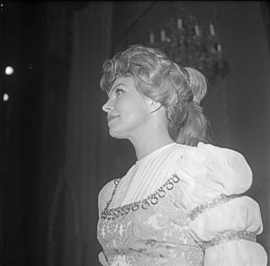 Eva Bergh - Eva Bergh as Portia in The Merchant of Venice at Den Nationale Scene 1969.