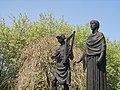 Evan James and James James Statue (Close Up), Ynysangharad Park - geograph.org.uk - 421725.jpg