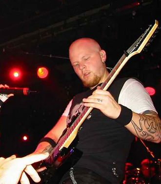 Ben Moody - Moody performing in Barcelona on May 29, 2003.