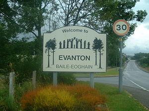 Evanton - Village Welcome Sign