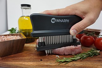 Meat tenderizer - Example of the Wharph meat tenderizer in action
