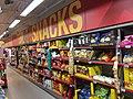 Extra (Coop supermarket) Bergen Storsenter Norway 2017-11-16 snacks aisle.jpg