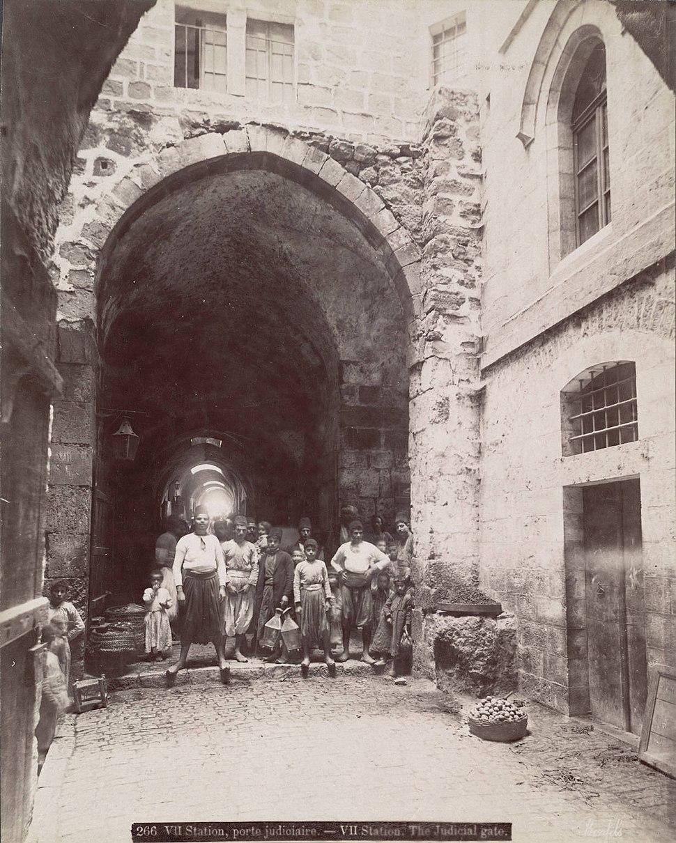 Félix Bonfils. Judicial Gate, Jerusalem
