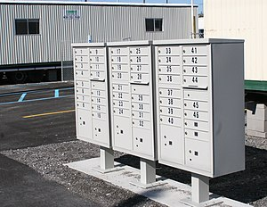 Centralized mail delivery - A USPS CBU Mail Station