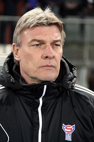 Faroe Islands national football team - Lars Olsen, manager of the Faroe Islands national football team.
