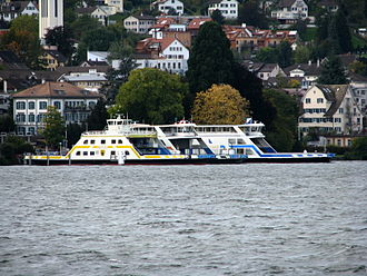 Horgen - Ferry ships «Meilen», «Schwan» and «Zürisee» at Horgen