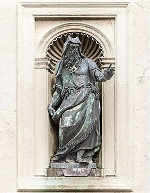 San Francesco della Vigna - Image: Facade of San Francesco della Vigna (Venice) Moses by Tiziano Aspetti