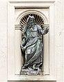 Facade of San Francesco della Vigna (Venice) Moses by Tiziano Aspetti.jpg